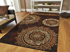 New Area Rugs 8x10 Brown Black Circles Area Rug 5x7 Contemporary 5x8 Rugs 2x3