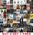 Greatest Movie Posters Top 100 Classic Vintage BOX CANVAS Art Prints <br/> BUY 2 GET 1 FREE - LOTS OF SIZES AND CANVAS TO CHOOSE