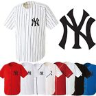 NY embroidered NewYork Yankees Baseball Stripe Open Tshirts sports Jersey Top