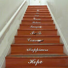 QT-0117 Stairs WordArt Love Live Laugh Mirrored Decor Wall Stickers waterproof