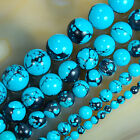 Wholesale Natural Blue Turquoise Round Gemstone Beads 4mm 6mm 8mm 10mm