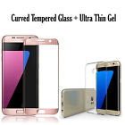 Samsung Galaxy S8 Plus S7 S6 Edge TPU Case Cover + Tempered Glass 3D Protector <br/> RRP 14.49*ROYAL MAIL 1ST CLASS POSTAGE * New S8/S8 Plus