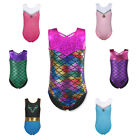 Sparkly Gymnastics Leotards Ballet Dance Fitness Tank Bodysuit For Girls 3-12Y