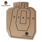 Emerson Airsoft Paper Shooting Target Card Aim Sheets Rifle Tactical Training