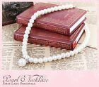 One point White for children Pearl Chain Pendant Statement Necklace Jewelry