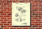 Speed Boat Patent Print Powerboatr Blueprint Nautical Wall Art Man Cave Poster