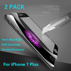 2PCS 3D Anti-blue Ray 9H Tempered Glass Screen Full Cover Film for iPhone 7 Plus