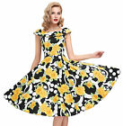 PLUS SIZE 1950s 60s Vintage Style Swing Evening Party Tea Dress Short Prom Dress