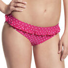 Womens Cleo by Panache Betty Frill Bikini Briefs Pink CW0039 Various Sizes