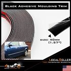 Brand New 20/30/40mm Car Black Moulding Trim Exterior Back With Adhesive DIY