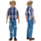 E-TING Casual Wear Shirt Blouse Pants Trousers Clothes Set For Barbie Ken Doll S