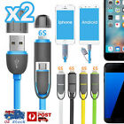 2in1 Universal Micro USB Protable Charge Sync Cable For Samsung Galaxy S7 S6 S4