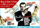 James Bond 007 From Russia With Love Movie Poster A5 A4 A3 A2 A1 £2.99 GBP