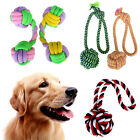 Pet Dog Tough Strong Chew Toy Cotton Rope Braided Ball Dumbbell Puppy Play Toy