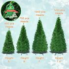 New Artificial Christmas Tree 5-7.5ft Spruce with Metal Stand Folding PINE Green