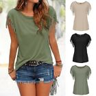 Fashion Women Loose Short Sleeve Summer Cotton Casual T-shirt Blouse Tops Shirts