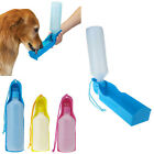 Portable Plastic Feeding Bowl Dog Cat Travel Pet Water Bottle Feeder 300ml 500ml