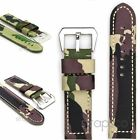 StrapsCo Thick Camo Military Watch Band Mens Nylon Canvas Strap in Camouflage