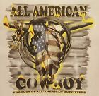 ALL AMERICAN OUTFITTERS RODEO COWBOY SKULL #1342 POCKET SHIRT