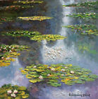 Impression of thick Oil Painting Art Classical Water Lilies hand-painted Canvas
