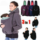 Coat Kangaroo Winter Outerwear Carrier Baby Pregnant for Maternity
