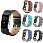 Fitbit Charge 2 Tracker's Genuine Leather Replacement Strap Wrist Watch Band HOT