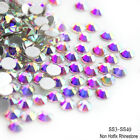 Hot Sale 1440pcs Crystal AB Non Hotfix FlatBack Rhinestones Nail Art Decoration