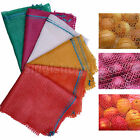 200 NET SACKS WOVEN MESH BAGS VEGETABLES LOGS KINDLING WOOD LOG 35x 50cm -5-10kg