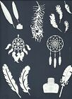 LTS 5-28 PCS SUB-SETS FEATHERS DIE CUTS* DREAM CATCHER PEACOCK OSTERICH *READ!