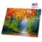 """Stretched Canvas Print Mirrored Sides ArtWall Deco 12""""x12"""" """"The Forest Trail"""""""