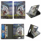 """tablet case for 7 inch universal Galaxy Tab 4 7"""" rotating stand cash card slots"""