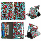 "tablet case for 7 inch universal Galaxy Tab 3 7"" rotating stand cash card slots"