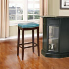 """Linon Home Decor Claridge 30"""" Wooden Bar Stool with Upholstered Seat and"""