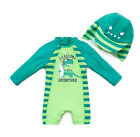 Toddler Baby Boys Sun Protection Swim Suit L/S One Piece UPF 50+ Protect