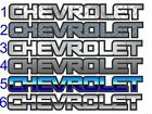 CHEVROLET Windshield  / Tailgate decal sticker - PICK STYLE - Chevy 4x4 Silverado