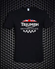 Triumph Motorcycle Biker UK United Kingdom Flag Logo Black T-Shirt S M L - 3XL $28.33 CAD on eBay