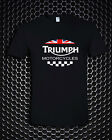 Triumph Motorcycle Biker UK United Kingdom Flag Logo Black T-Shirt S M L - 3XL $21.99 USD on eBay