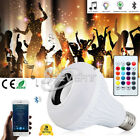 E27 RGB LED Bulb Wireless Bluetooth Smart APP Light Music Stereo Speaker Lamp