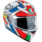 AGV Motorbike Motorcycle Sports K-3 SV Marini Helmet - Red / Green / Blue