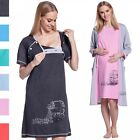 Happy Mama Women's Maternity Hospital Gown Robe Nightie Set Labour & Birth. 379p