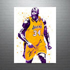 Shaquille O'Neal Los Angeles Lakers Poster FREE US SHIPPING on eBay