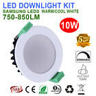 6X 10W LED DOWNLIGHTS DIMMABLE KITS 70MM CUTOUT  WARM/ COOL WHITE IP44 850LM SAA