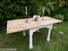 Rustic OAK Country Farmhouse EXTENDING 6ft Kitchen Dining Table PAINTED F&B NEW