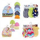 Baby Essentials Infant Newborn 8pc Gift Set 5pk CAPS & 3pk MITTENS Boys Girls