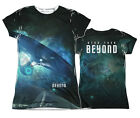 "Star Trek: Beyond ""Out There"" Dye Sublimation Girl's Junior Tee"