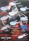 Star Trek Furuta Federation Ships And Alien Ships Collection Display Models