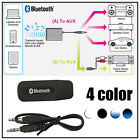 3.5mm Wireless USB Bluetooth Stereo Audio Speaker Music Receiver Adapter Dongle