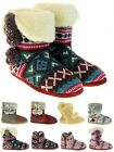 Ladies DUNLOP Eleanor Woollen Knitted Boot Slippers Womens Cable Knit Bootees