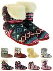 Ladies Dunlop Womens Woollen Winter Knitted Boot Slippers Sizes UK 3 4 5 6 7 8