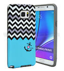 FOR SAMSUNG Galaxy Note 5 PHONE BLACK TUFF HYBRID RUBBER HYBRID SKIN CASE COVER